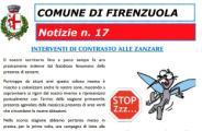 Volantino del Comune di Firenzuola sulla lotta alle zanzare