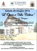 Locandina dell'iniziativa 'L'Opera a Villa Collina'