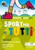 Volantino di 'Sport per tutti' a Pistoia