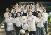 Atleti e dirigenti dei Magnifici schierati per la foto ufficiale. Foto: Umberto Fedele