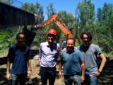 Da destra l'Ing. Neroni, l'Ing. Conti, il Sindaco di San Casciano Massimiliano Pescini, l'Ing. Faggioli