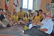 Il sindaco con i ragazzi che partecipano ai campi di volontariato internazionale a Montemurlo