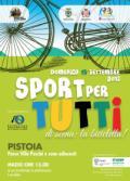 Manifesto di 'Sport per tutti' a Pistoia