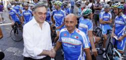 Rossi incontra Bettini ed i ciclisti azzurri