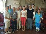 I appresentanti del Volontariato in Comune a Pistoia