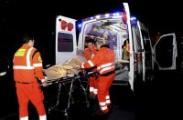 Soccorso dei volontari della Croce Viola - Pubblica Assistenza di Sesto Fiorentinoa una persona ferita