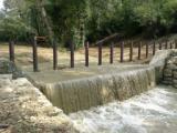 La briglia a pettine in funzione sul torrente Grillaio