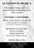 Volantino dell'Appuntamento venerdì sera 1 Novembre con il Ristorante Ethnos