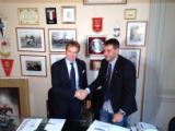 Da sinistra il presidente del CONI Toscana Salvatore Sanzo e quello di UNCEM Toscana Oreste Giurlani