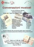 Locandina dell'iniziativa 'Conversazioni musicali'