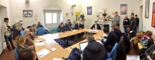 conferenza stampa tenuta da Salvatore Sanzo