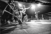 Leonard Bundu batte Rafal Jackiewicz per KO all'undicesima ripresa e mantiene il titolo EBU dei pesi welter (photo: David Andre Weiss, Florence University of the Arts)