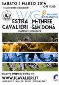Estra I Cavalieri Prato Rugby - M-Three San Donà