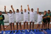 Il quattro con Junior campione d'Italia 2013