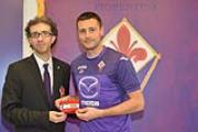 Festa per le 300 presenze di Pasqual con la Fiorentina (foto MAURIZIO RUFINO)
