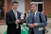 Stefano Botti vincitore della classifica allenatori a Firenze nel 2013 e Maurizio Scarfì, proprietario fiorentino
