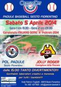 Volantino della partita inaugurale del campionato di baseball a Sesto