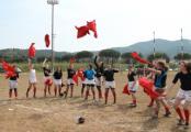 Firenze Rugby femminile. Esultanza a fine gara