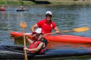 Antonio Rossi e le lezioni di canoa