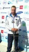 Pier Alberto Buccoliero in gara all'Europeo di paracanoa