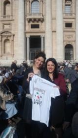 da destra a sinistra, Nadia Giannetti e Gaia Simonetti