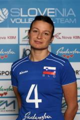 Tina Lipicer Samec con la maglia della Nazionale