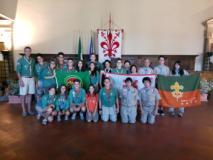 La foto della delegazione in Palazzo Vecchio