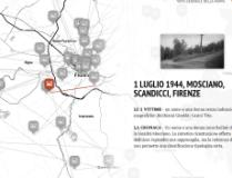 Una schermata dell'l'infografica multimediale sulla Resistenza fiorentina