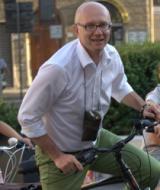 Il sindaco Spinelli in bicicletta