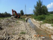 Via ai lavori all'argine della cassa di espansione del Turbone a Montelupo