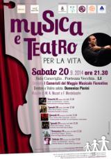 Locandina dei concerti di 'Musica e teatro per la vita'