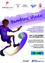 Locandina della Mostra 'Bambini Viola' a Anghiari