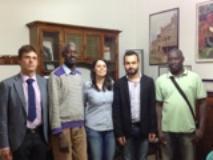Foto:  da sinistra, Latini, Sall, Conforti, Cucini, Ngom