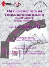 Locandina della presentazione del libro 'Chi vuol esser lieto sia. Toscana, un racconto in musica'