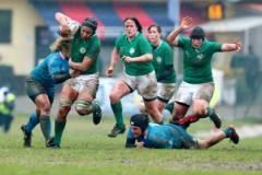 Una fase di gioco Italia-Irlanda