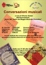 Locandina delle Conversazioni musicali 2015 a Brozzi