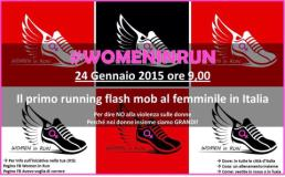 Banner Womanin run