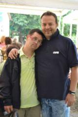 Franco Gradilone e un amico
