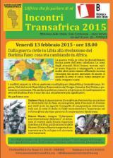 Volantino incontro Transafrica del 13 febbraio 2015