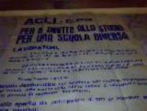 FURTO AL CIRCOLO ACLI AURORA  Trafugato un manifesto storico delle Acli degli anni sessanta.