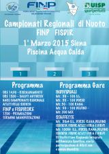 Locandina Campionati Regionali Toscana di NUOTO F.I.N.P. e F.I.S.D.I.R. 2015