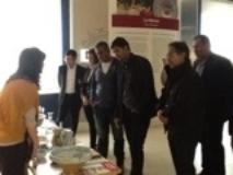 le delegazioni delle nazionali di Italia e Qatar in visita al Museo della ceramica