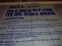 Il manifesto storico del Circolo Acli Aurora ritrovato a Strada in Chianti