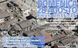 Incasso dei musei comunali del 28 agosto sarà devoluto alle zone terremotate