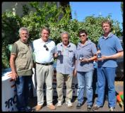 Un momento della premiazione alla Fiera degli Uccelli di Ponte a Cappiano