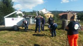 Gli operatori della Protezione Civile della Città Metropolitana e del Comune di Firenze nei luoghi colpiti dal sisma