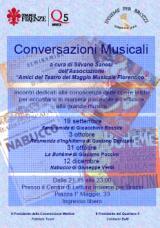 Locandina della conversazioni musicali a Brozzi