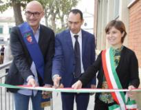 Un momento dell'inaugurazione della rampa al Virgilio di Empoli