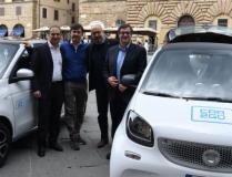 Nuova flotta di car2go in Piazza della Signoria