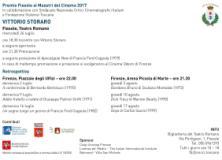 Premio Fiesole ai Maestri del Cinema 2017, programma